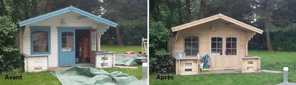decapage-abri-jardin-chalet-bois-aerogommage-systeme