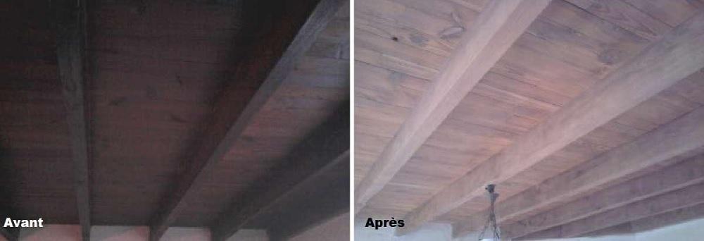 decapage-poutre-plafond-bois-aerogommage-systeme