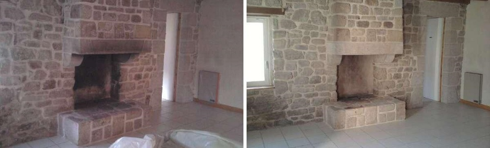 decapage-cheminee-pierre-aerogommage-systeme